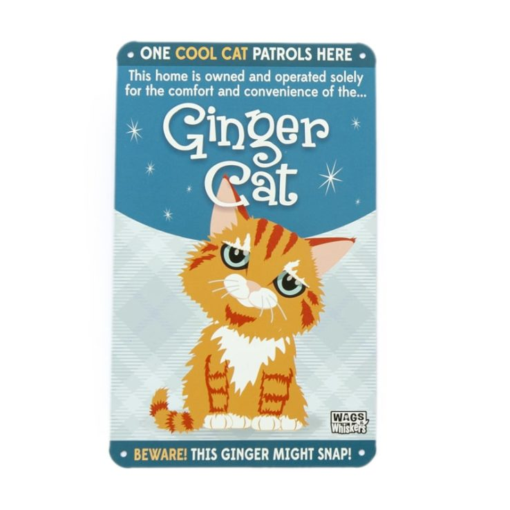 Wags & Whiskers Plaques - Ginger Cat
