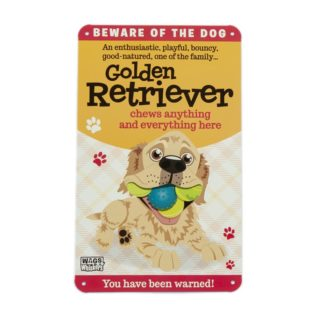Wags & Whiskers Plaques - Golden Retriever