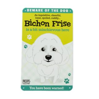 Wags & Whiskers Plaques - Bichon Frise