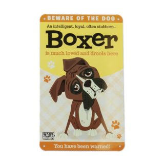 Wags & Whiskers Plaques - Boxer