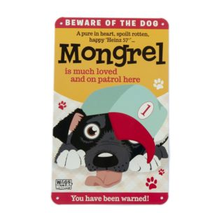 Wags & Whiskers Plaques - Mongrel