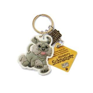 Wags & Whiskers Keyring - Miniature Schnauzer