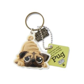 Wags & Whiskers Keyring - Pug