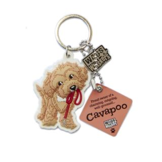 Wags & Whiskers Keyring - Cavapoo
