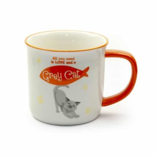 Wags & Whiskers Mugs - Grey