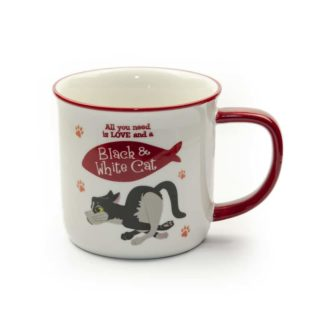 Wags & Whiskers Mugs - Black & White