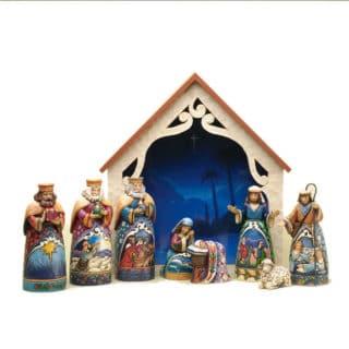 Heartwood Creek - Set of 9 Mini Nativity Figurine