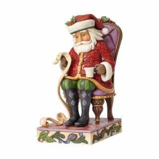 Heartwood Creek - Santa In Chair With List Figurine