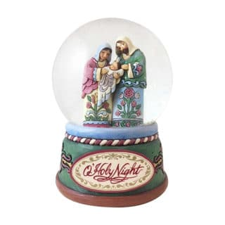 Heartwood Creek - Praise The Newborn Savior Holy Family Waterball