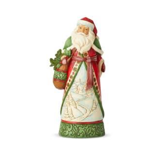 Heartwood Creek - Santa With Winter Scene Figurine