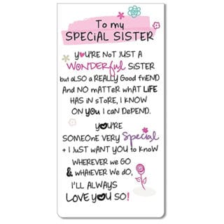 Inspired Words Magnetic Bookmarks - Special Sister