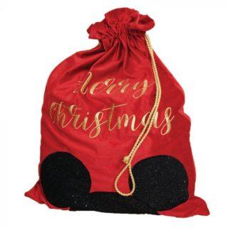 Disney Christmas - Velvet Gift Sack Mickey Mouse