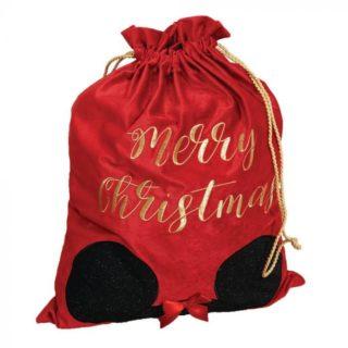 Disney Christmas - Velvet Gift Sack Minnie Mouse