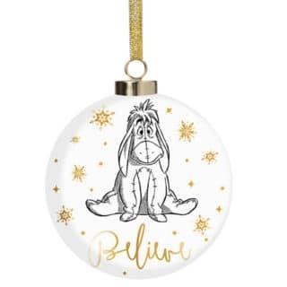 Disney Christmas Bauble - Eeyore Believe