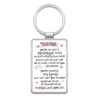 Inspired Words Keyring - Sister