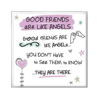 Inspired Words Magnet - Good Friends Are Like Angels