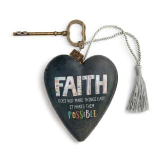 Art Heart Sculpture - Faith