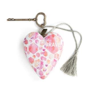 Art Heart Sculpture - Be Brave