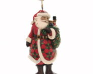Jim Shore Heartwood Creek - Santa With Toy Bag Hanging Ornament