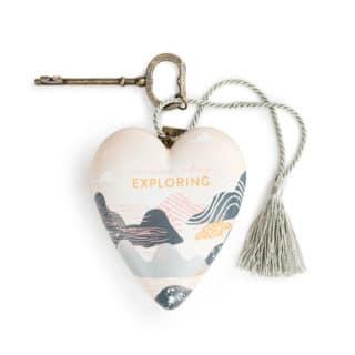 Art Heart Sculpture - Never Stop Exploring