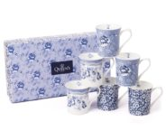 Queens Mug 3AT Blue Story 1 200ml/7oz Royale Mugs (S/6)