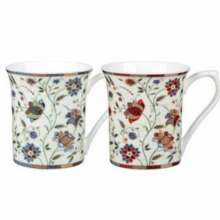 Queens Mug 2AT Indian Silk 200ml/7oz Royale Mugs (S/4)