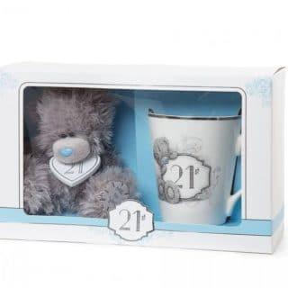 Me to You - 21st Birthday Mug and Plush Bear Set