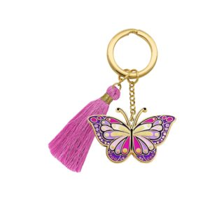 Beyond Charms Keychain Butterfly