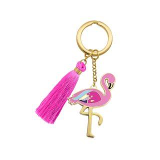 Beyond Charms Keychain Flamingo