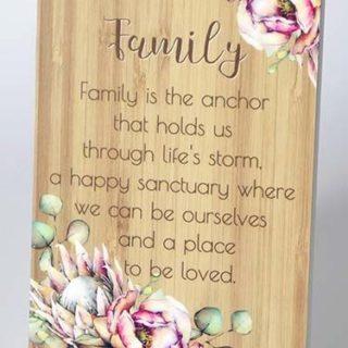 Bunch Of Joy Sentiment Plaque 18x13cm Family