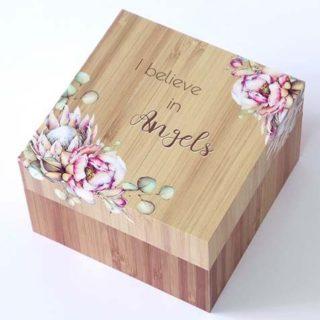 Bunch Of Joy Trinket Box 12cm Angel