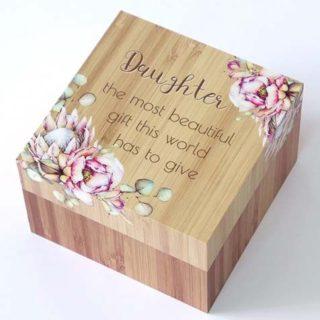 Bunch Of Joy Trinket Box 12cm Daughter