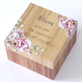 Bunch Of Joy Trinket Box 12cm Mum