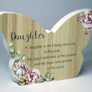 Bunch Of Joy Butterfly Plaque Daughter