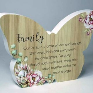 Bunch Of Joy Butterfly Plaque Family