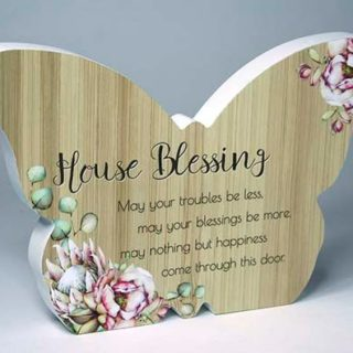 Bunch Of Joy Butterfly Plaque House Blessing