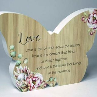 Bunch Of Joy Butterfly Plaque Love