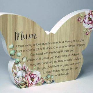 Bunch Of Joy Butterfly Plaque Mum