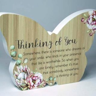 Bunch Of Joy Butterfly Plaque Thinking Of You