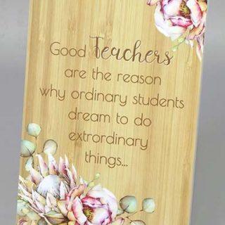 Bunch Of Joy Teacher Plaque 18x13cm Good Teacher