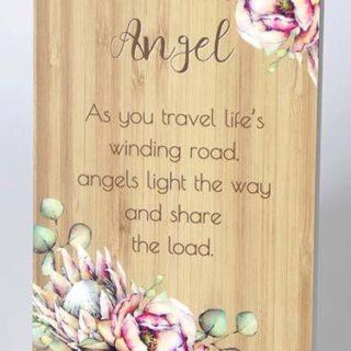 Bunch Of Joy Sentiment Plaque 18x13cm Angel