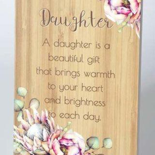 Bunch Of Joy Sentiment Plaque 18x13cm Daughter