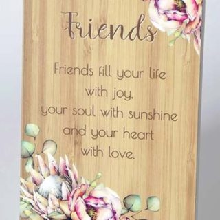 Bunch Of Joy Sentiment Plaque 18x13cm Friends