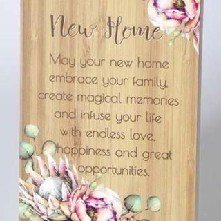 Bunch Of Joy Sentiment Plaque 18x13cm New Home