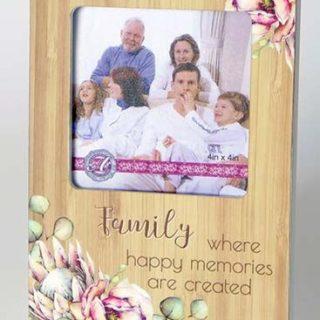 Bunch Of Joy Photo Frame 4x4in Family